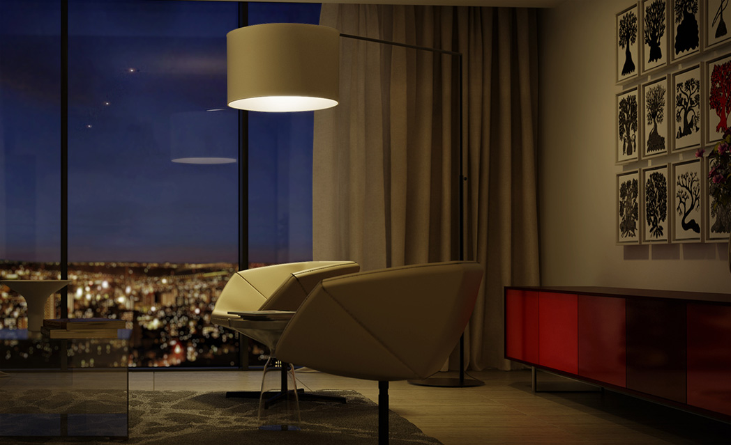 Embassy ONE Residences - Lifestyle Living Room